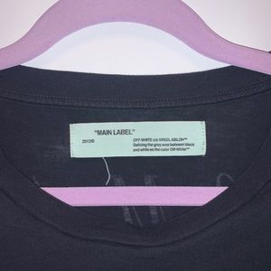 """Off-white authentic """"nothing new"""" tee"""